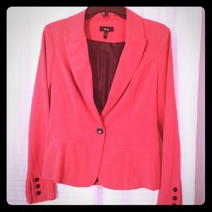 Red fitted blazer, juniors size Medium